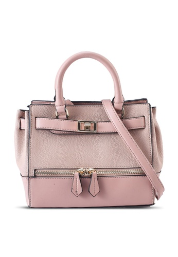 Call It Spring pink Grainer Top-Handle Bag E8061AC2CE7F35GS_1