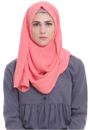 Mybamus Tsania Hijab Instant Peach