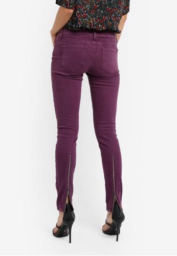 Paige purple Sienna Zip Ultra Skinny Jeans SO640AA0GOOSSG_1