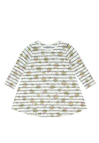 GLOBAL WORK yellow Printed Dress 4DEFAKA512559AGS_1