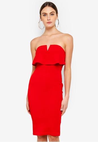 AX Paris red Notch Front Bodycon Dress 09283AA129CBBAGS_1
