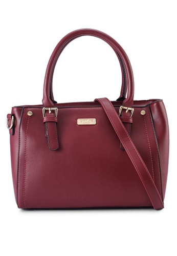 Unisa red Faux Leather Convertible Top Hand Bag ADD42ACDAA9E47GS_1