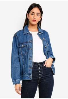 Psst... we have already received your request. MISSGUIDED. Oversized Denim  Jacket adf3ca9d9e