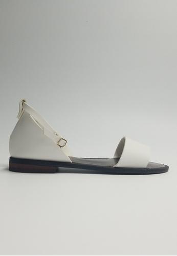 Lara 白色 女士平底涼鞋 C9746SH6E7C3E4GS_1