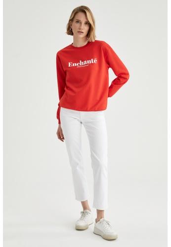 DeFacto red Long Sleeve Cotton Sweatshirt C872EAAF274121GS_1