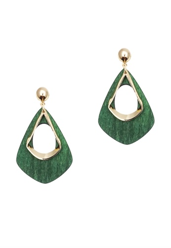 LUCCACAL green Narina Wooden Earrings CF1C4ACB494771GS_1