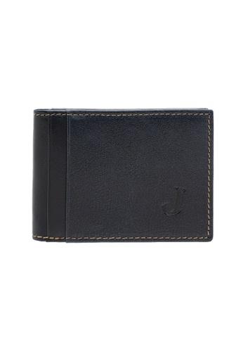 Jack Studio navy Jack Studio Leather Small Slim Front Pocket Bifold Card Holder 78DBCACA12B441GS_1