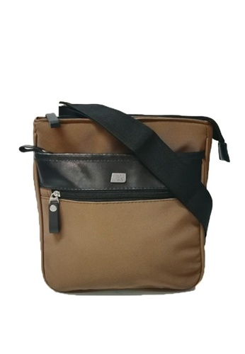 Mc Jim brown MJ Color Blocked Sling Bag 1DD77AC9CF1A62GS_1