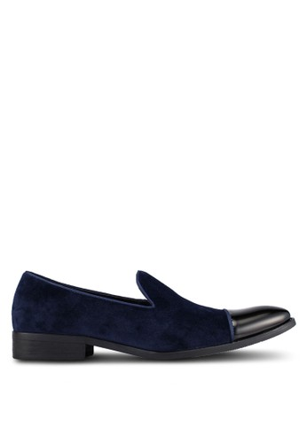 ZALORA navy Patent Toe Cap Cocktail Dress Laofer 0557BAA1330D7DGS_1