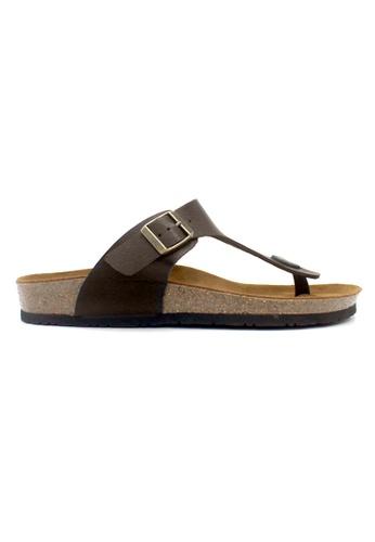SoleSimple brown Rome - Dark Brown Leather Sandals & Flip Flops 3DEE1SHD40AD84GS_1