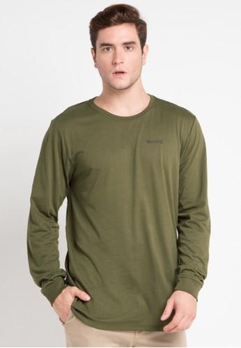 hurley green Dri-Fit Staple Long Sleeve T-Shirt 8EB0DAA56D525DGS_1