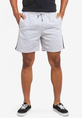 Factorie grey Sport Fleece Shorts 0C0E1AAC4293D2GS_1