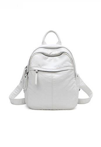 Twenty Eight Shoes white Fashionable Textured Faux Leather Backpack JW CL-C2937 C38AEACB7F79D4GS_1