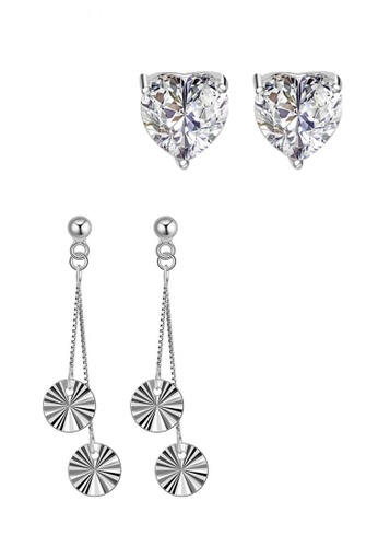 Sc Tom Silver Stud Stone Earrings And Dangling Sc872ac0j5lpph 1