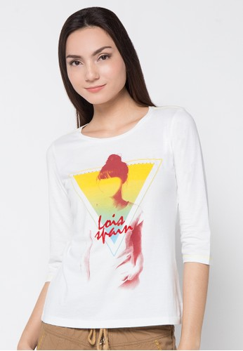 LOIS JEANS white Simple T-Shirt LO391AA92JYLID_1