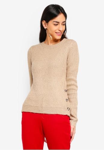 Vero Moda beige Elisa O-Neck Sweater 0668EAA9D93F58GS_1