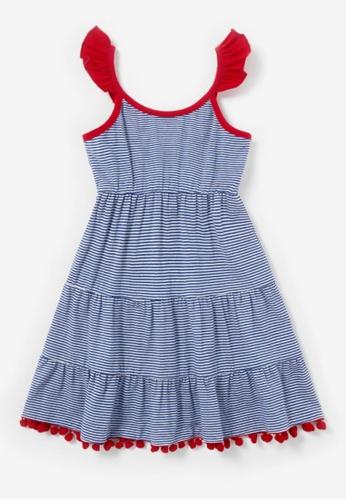 Mommy Hugs blue Girls Candy Cane Crew Summer Twinning Dresses DFF46KA6013299GS_1