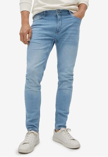 MANGO Man 藍色 緊身Light Wash Jude 牛仔褲 13738AAA21A1E7GS_1