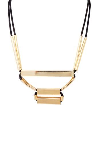Jaysa Collection gold Avant Garde Tubular Statement Necklace 50151ACC15D153GS_1