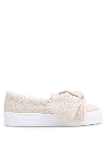 TOPSHOP beige Tutu Oversized Bow Shoes TO412SH0RCGCMY_1