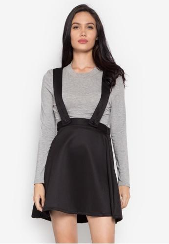 Verve Street black Ayla Jumper Skirt VE915AA0K5SLPH_1