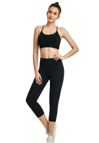 B-Code black ZWG1103b-Lady Quick Drying Running Fitness Yoga Leggings-Black 7D5E5AAA059A7BGS_1