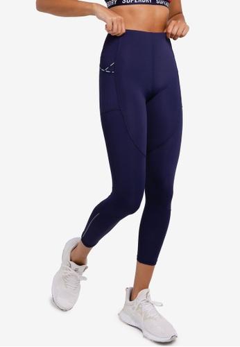 Superdry 海軍藍色 Run 7/8 緊身褲 - Sports Performance 39B36AA1C81A2BGS_1