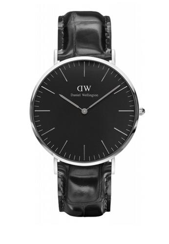 Daniel Wellington black and silver Classic Black Reading Watch 40mm DA376AC80NBNMY_1