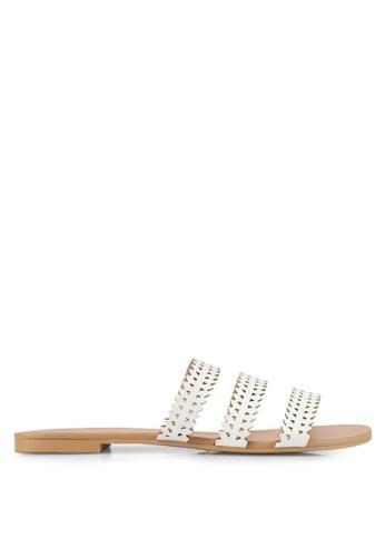 ZALORA white Laser Cut Sandals 178D2SH5F97E09GS_1