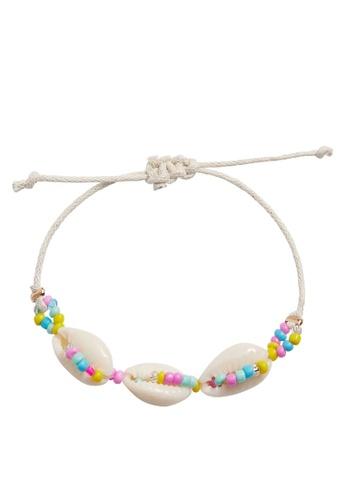 MANGO KIDS beige Shells Bracelet 35727KC9D0D2DFGS_1