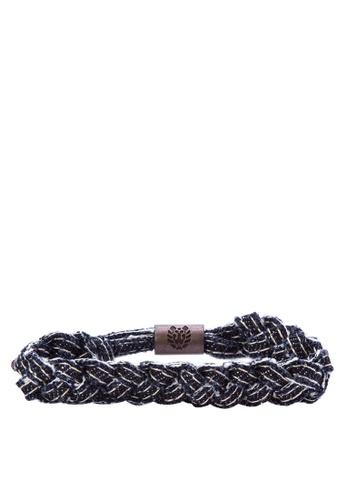Rastaclat black and white Shoelace Bracelet: Indigofera RA072AC0JYODPH_1