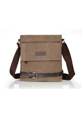 A FRENZ brown Vintage Knights Canvas Bag/Messenger Bag/Sling Bag/Shoulder Bag Coffee 90C75AC27E4A28GS_1