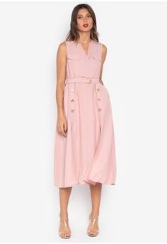 3e529f95a99 Plains   Prints pink Eris Sleeveless Maxi Dress 18FAEAA574125DGS 1