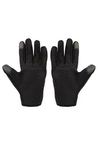 Hamlin black Hamlin Irroin Sarung Tangan Motor Sepeda Gunung Sporty Pria Anti Slip Size M Material Nylon ORIGINAL - Black 4ECCAAC00C3583GS_1