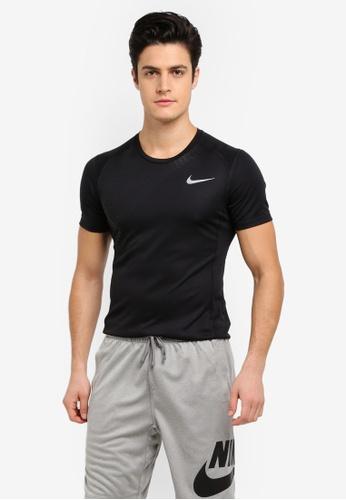 Nike black Men's Nike Dry Miler Running Top NI126AA0STUVMY_1