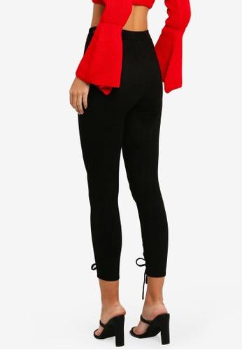 d1c30ff939694 Shop MISSGUIDED Faux Suede Lace Up Leggings Online on ZALORA Philippines