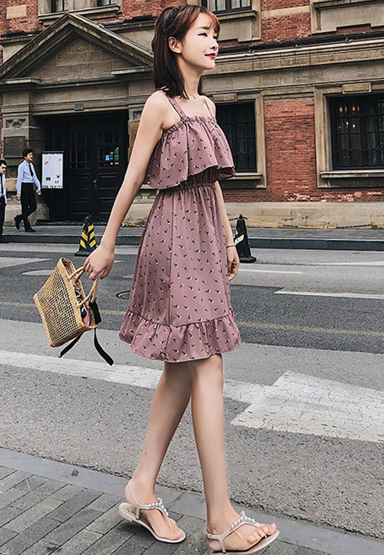 New Dress 2018 Off One Slip Pink Piece Shoulder CA062951PI Sunnydaysweety Pink R0q0g6p