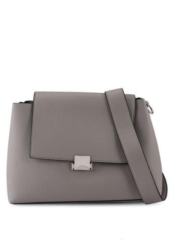 Dorothy Perkins grey Grey Soft Pushlock Crossbody Bag 09931AC2BDABA5GS_1