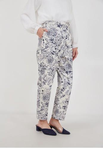 Hijabenka white Rina Straight Pants White 6E727AAF608059GS_1