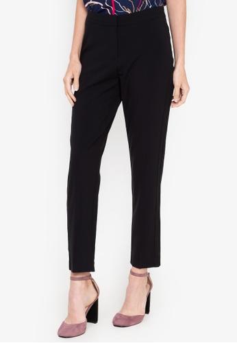 MARKS & SPENCER black Modern Slim Leg Trousers B6505AA2B10F8EGS_1