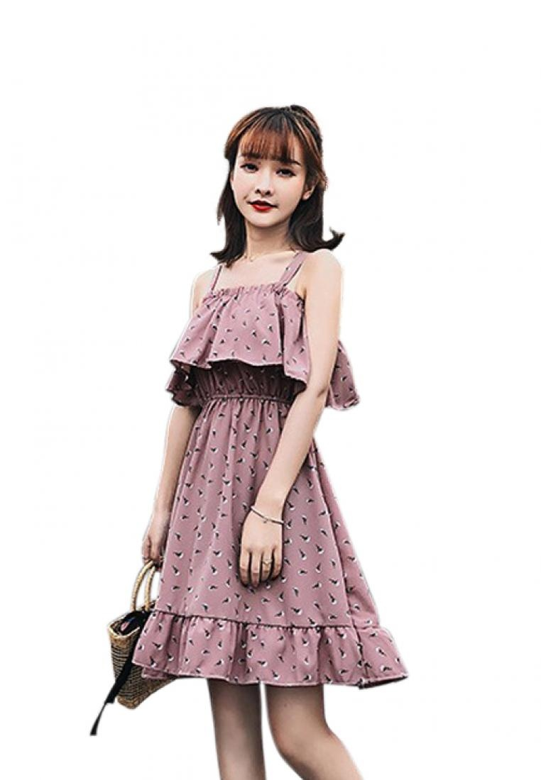 Pattern Dress A051651 Strap One Multi New Piece 2018 Chiffon Sunnydaysweety qAfcPSwE