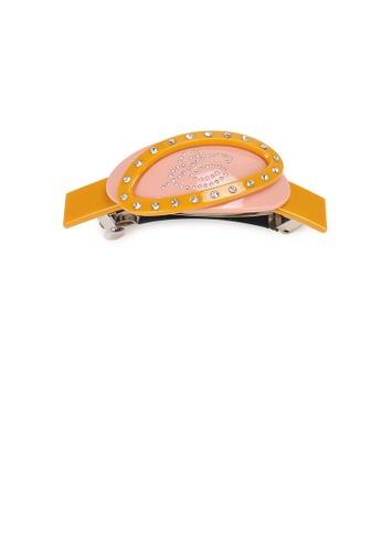 Glamorousky white Fashion and Elegant Geometric Oval Orange Hair Slide with Cubic Zirconia A5552AC90F6095GS_1