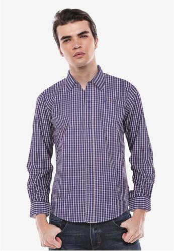 Johnwin blue Johnwin - Slim Fit - Kemeja Formal - Biru - Gingham Shirt E8F4CAA474A9FBGS_1