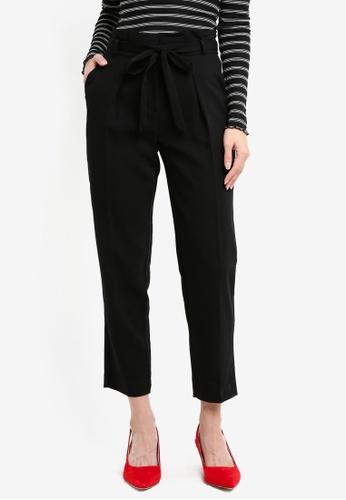 Miss Selfridge black Black Paperbag Trousers 12E14AAC0F14F7GS_1