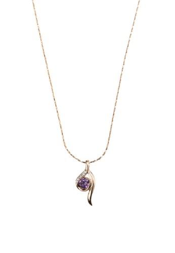 Dorado 閃鑽寶石抽象吊飾項鍊, esprit分店飾品配件, 飾品配件