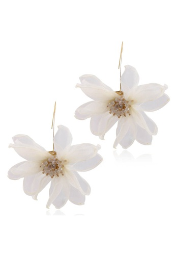 Sunnydaysweety white Holiday Style Large Petal Pendant Earrings A21032411W 4931DACD8745B0GS_1