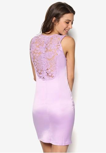 蕾絲拼背貼esprit 請人身迷你連身裙, 服飾, 洋裝