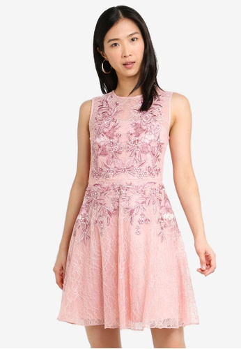 Forever New pink Nikita Embroidered Lace Prom Dress 82202AAC1A60D7GS_1