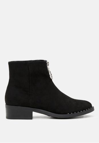 London Rag black Zip Front Ankle Boots 1DDD8SH04E38C7GS_1