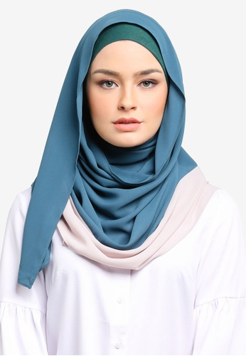Ilham Echenta blue Aulia Hijab Chiffon Dual Tone IL385AA0S3R9MY_1